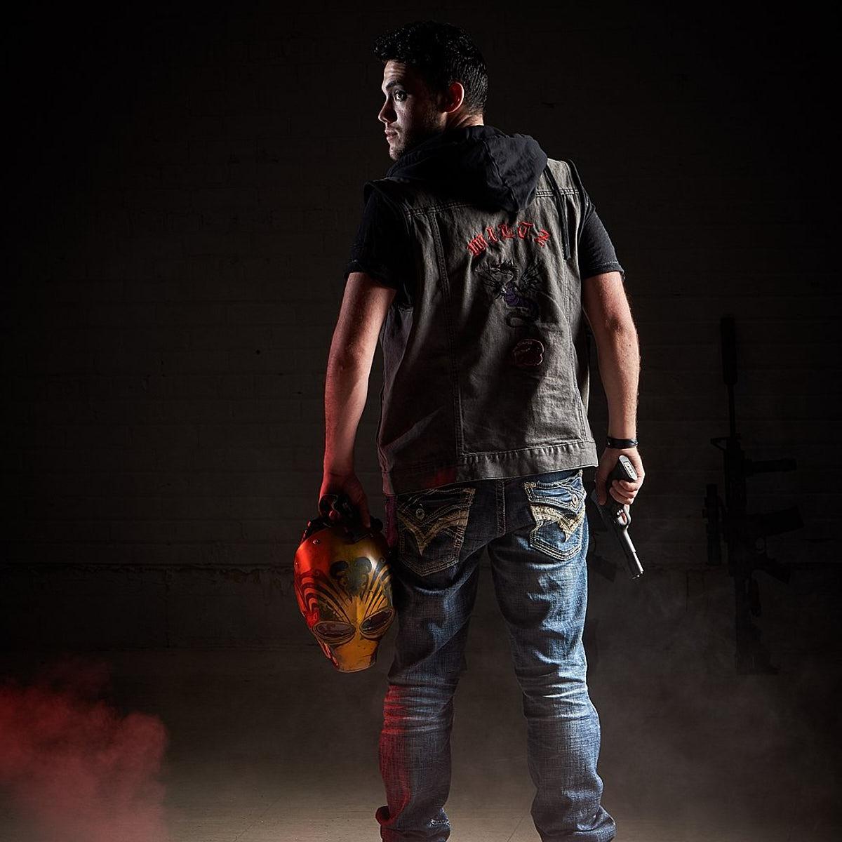 Paramilitary masked gunman